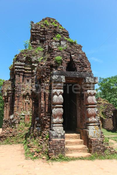 Mi hijo templo complejo Vietnam pueden Foto stock © jeayesy