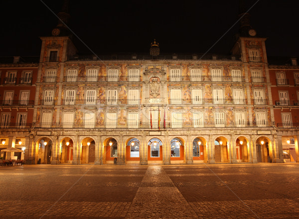 Plaza Mayor - Madrid Spain Stock photo © jeayesy