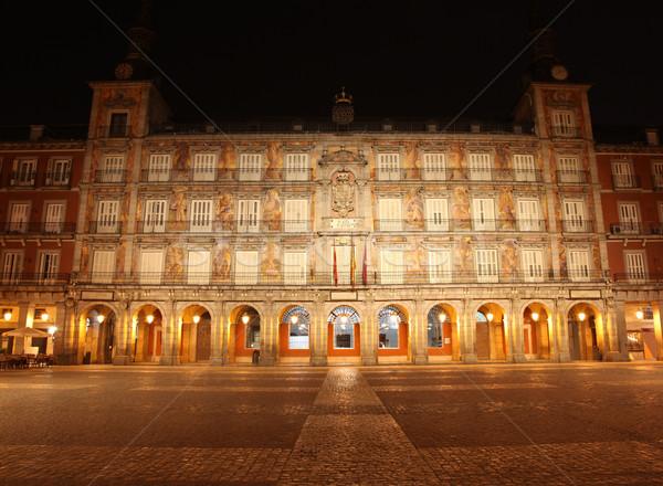 Madryt Hiszpania słynny punkt orientacyjny miasta budynku Zdjęcia stock © jeayesy