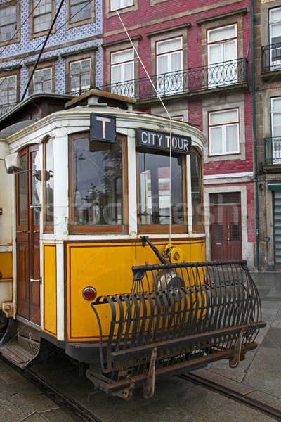 Tranvía edad Portugal forma transporte red Foto stock © jeayesy