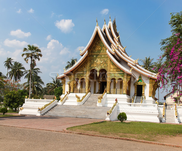 Bouddhique temple Laos or unesco ville Photo stock © jeayesy