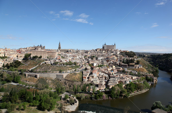 スペイン 表示 歴史的 中世 市 ラ ストックフォト © jeayesy