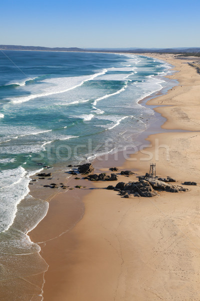 пляж Ньюкасл юг пару Сток-фото © jeayesy