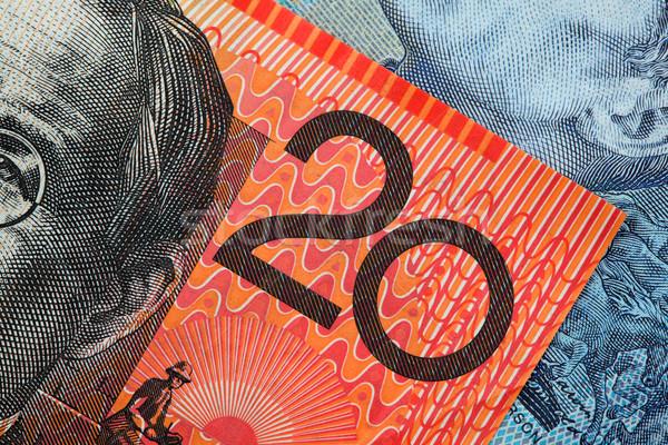 詳細 オーストラリア人 20 ドル 注記 ストックフォト © jeayesy