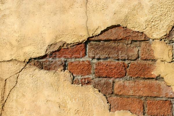 crumbling brick wall Stock photo © jeayesy