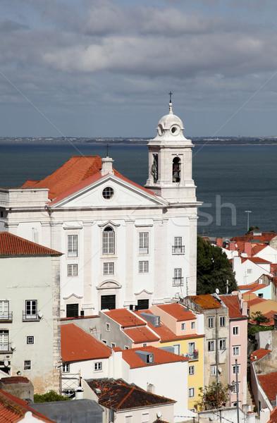 Santo Estevao Church Lisbon Stock photo © jeayesy