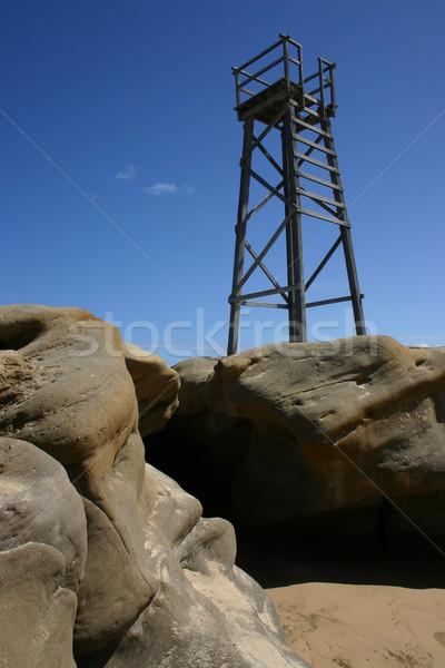 サメ 塔 赤毛 ビーチ ニューカッスル オーストラリア ストックフォト © jeayesy