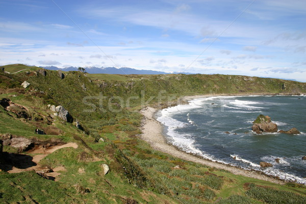 New Zealand ruig kustlijn zee wind niemand Stockfoto © jeayesy