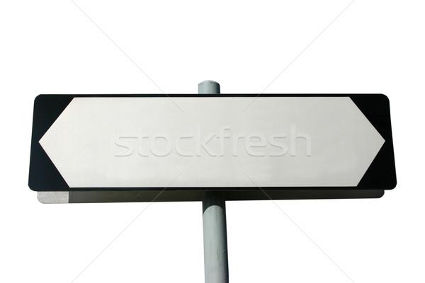 Sokak işareti yalıtılmış beyaz kendi metin Stok fotoğraf © jeayesy