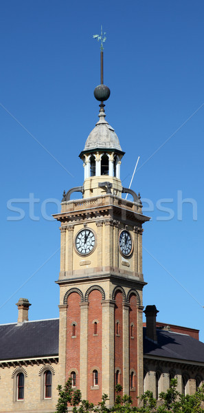 Customs House - Clock tower Newcastle Australia Stock photo © jeayesy