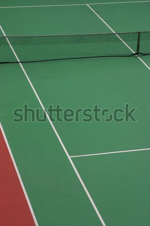 Pista de tenis vacío verde línea de banda neto Foto stock © jeayesy