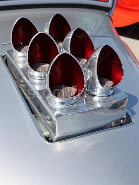 Lucht arrangement klassiek metaal schone motor Stockfoto © jeayesy