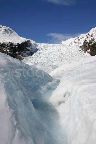 Raposa geleira Nova Zelândia sul ilha popular Foto stock © jeayesy