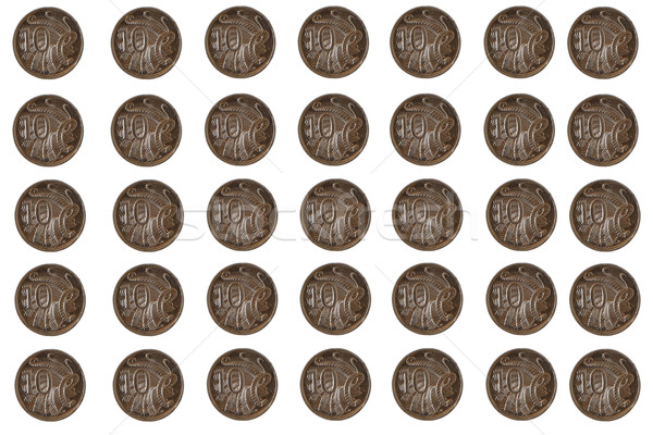 Australian 10 cent coins Stock photo © jeayesy