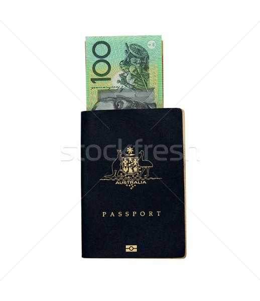 Stockfoto: Australisch · paspoort · 100 · nota · geld