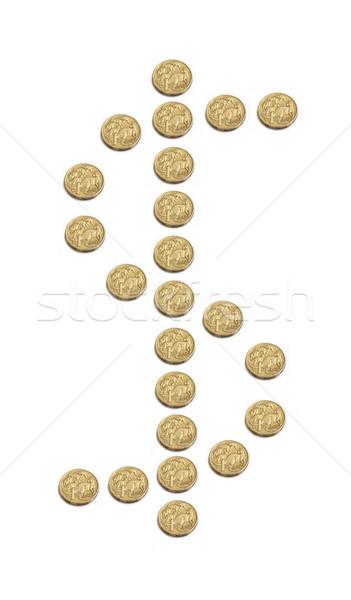 Australiano dólar signo de dólar fuera uno monedas Foto stock © jeayesy
