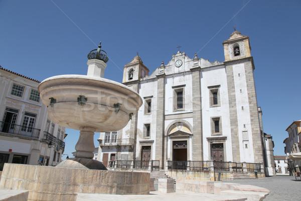 Giraldo Square Evora Portugal Stock photo © jeayesy
