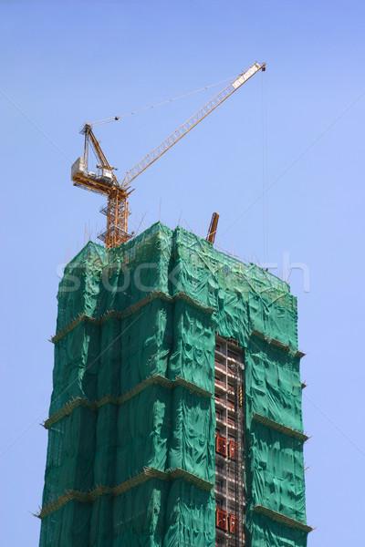 High-rise construção alto edifício torre Foto stock © jeayesy
