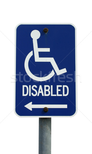 Disabled sign isolated on white Stock photo © jeayesy