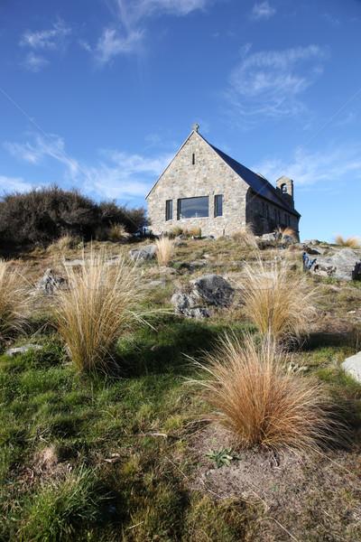 Church of the Good Shepherd - Lake Tekapo New Zealand Stock photo © jeayesy