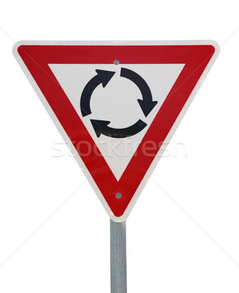 roundabout sign Stock photo © jeayesy