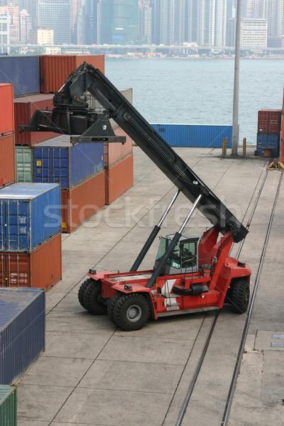 Container terminal Stock photo © jeayesy