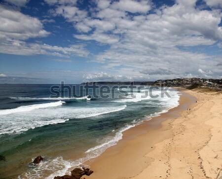 Bár tengerpart Newcastle Ausztrália gyönyörű napos idő Stock fotó © jeayesy