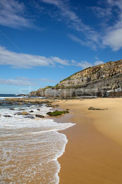ニューカッスル ビーチ オーストラリア いい 日 見える ストックフォト © jeayesy