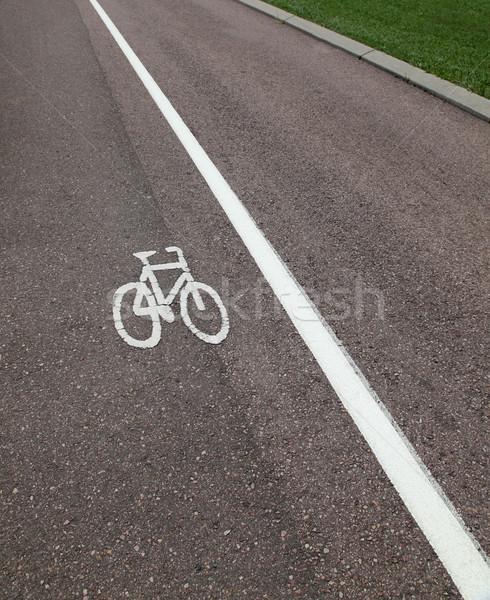 自転車 レーン 空っぽ 道路 自転車 安全 ストックフォト © jeayesy