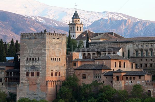 アルハンブラ宮殿 スペイン 表示 有名な 風景 山 ストックフォト © jeayesy