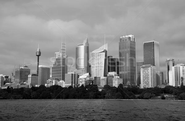 Sydney Australia bianco nero immagine skyline farm Foto d'archivio © jeayesy