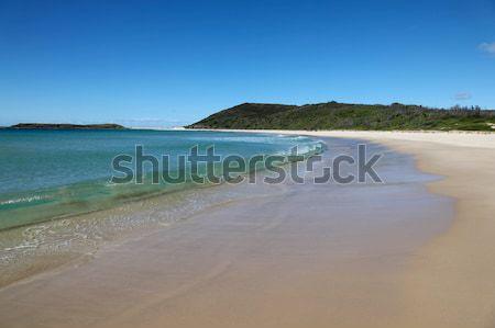 Tengerpart tó Newcastle Ausztrália dél domb Stock fotó © jeayesy