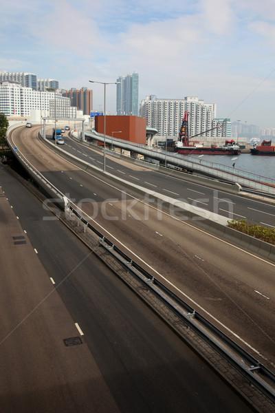 Hong Kong strade porto autostrada urbana traffico Foto d'archivio © jeayesy