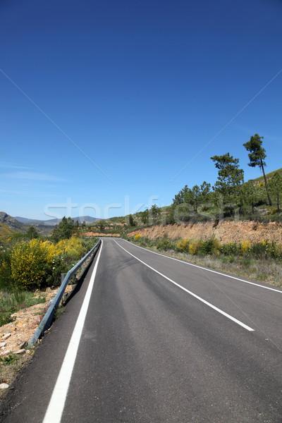 オープン 道路 表示 農村 スペイン 風景 ストックフォト © jeayesy