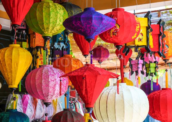 Colorido linternas Vietnam ciudad popular Foto stock © jeayesy