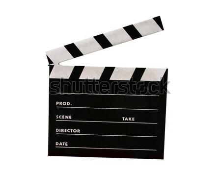 Film tahta yalıtılmış beyaz sinema siyah Stok fotoğraf © jeayesy
