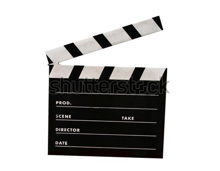 Película bordo aislado blanco cine negro Foto stock © jeayesy