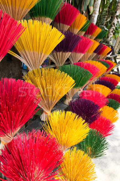 Colourful Incense Sticks Stock photo © jeayesy