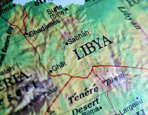 リビア クローズアップ 世界 世界中 注記 浅い ストックフォト © jeayesy