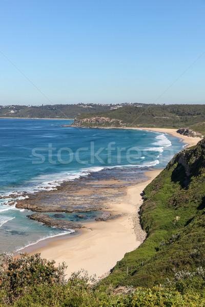 Tengerpart Newcastle Ausztrália fölött szép ősz Stock fotó © jeayesy