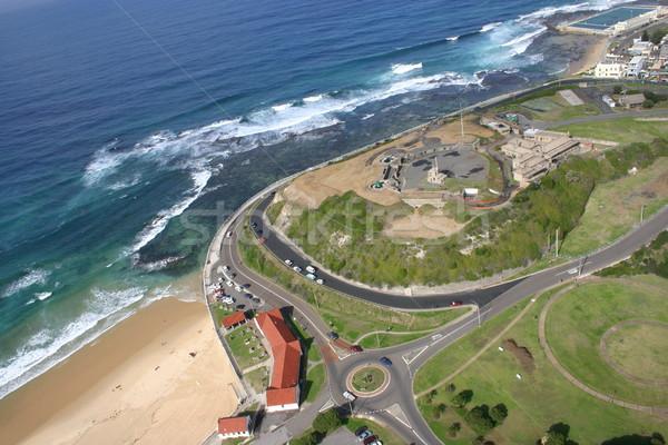 Erőd Newcastle Ausztrália légifelvétel tengerpart tenger Stock fotó © jeayesy