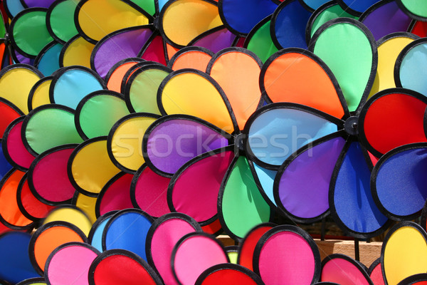 colourful pinwheels Stock photo © jeayesy