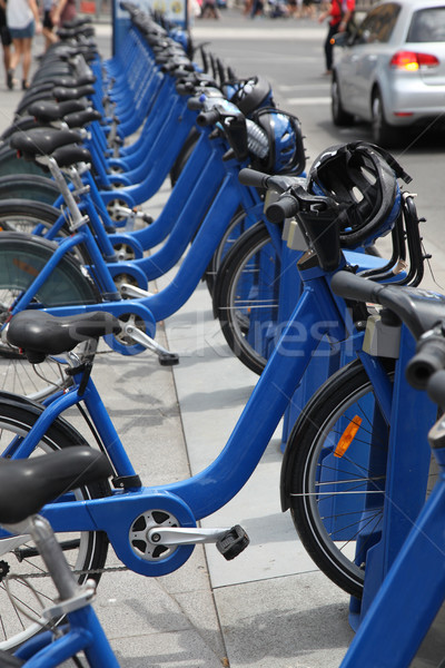 Bike Sharing in Melbourne - Australia Stock photo © jeayesy