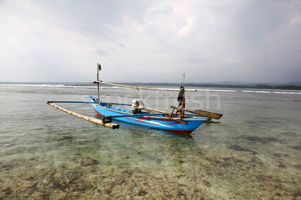 Indonesian Fishing Boat Stock photo © jeayesy