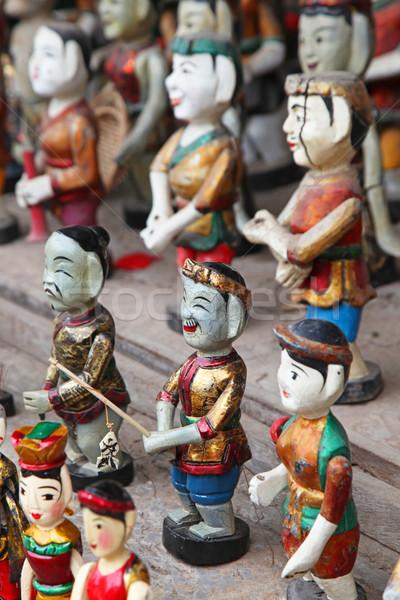 Pintado madeira modelo asiático Foto stock © jeayesy