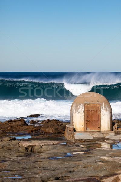 Lyuk Newcastle nagy szörf helyi tájékozódási pont Stock fotó © jeayesy