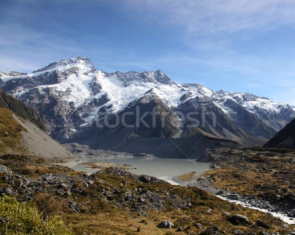 Nueva Zelandia montanas río valle nuevos meridional Foto stock © jeayesy