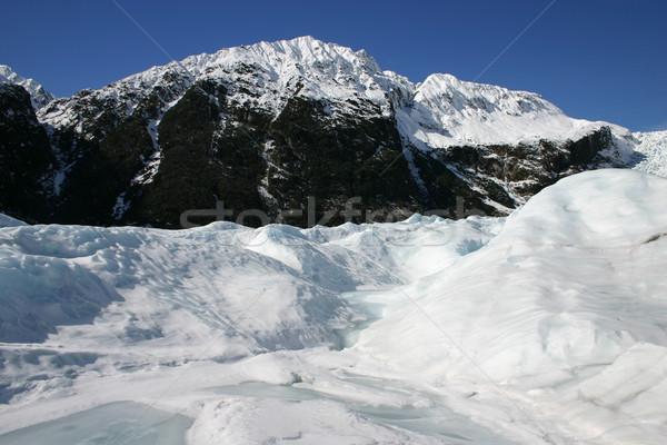 Raposa geleira Nova Zelândia azul frio Foto stock © jeayesy