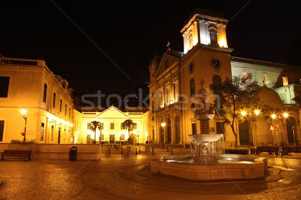 Uno muchos iglesias edificio iglesia Foto stock © jeayesy