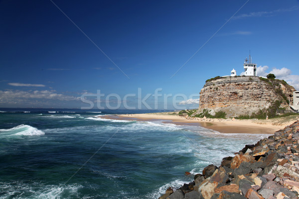 Nobbys Lighthouse - Newcastle Australia Stock photo © jeayesy